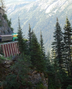 Abord the White Pass Railway