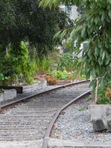 Railroad tracks in Vancouver; Photo Credit Doree Weller