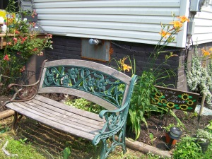 Bench in garden, Pennsylvania Photo Credit: Doree Weller