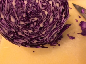Yes, it's a purple cabbage.  But isn't it pretty?
