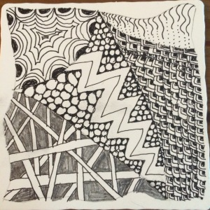Another original Zentangle by Doree Weller.  I'm so artsy!